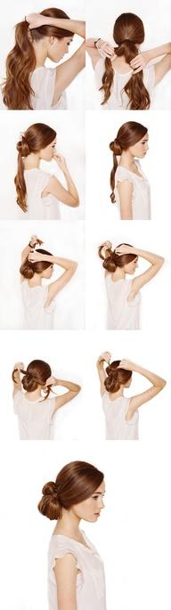 Peinados tutorial moño anudado