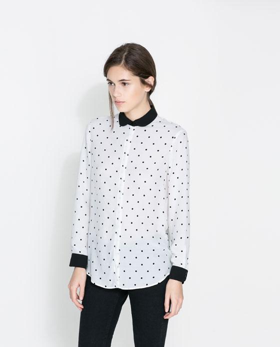 Blusa camisera combinada