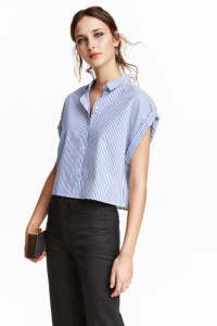 Camisa oversize corta de H&M
