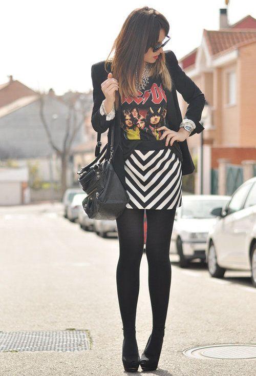 Outfits concierto rock